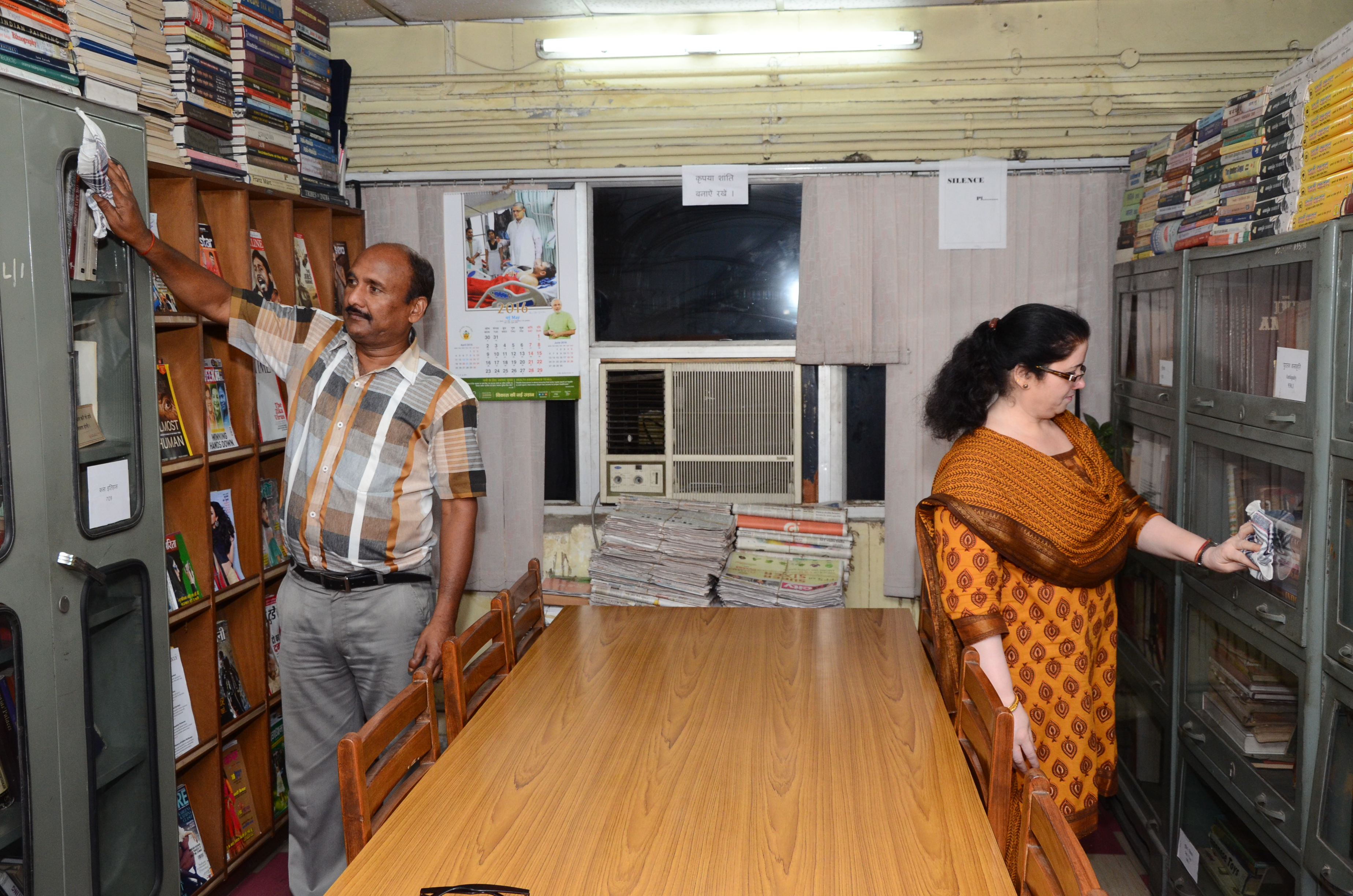 Image of  Swachh Bharat Abhiyan at Office of Development Commissoner (Handicrafts), New Delhi.