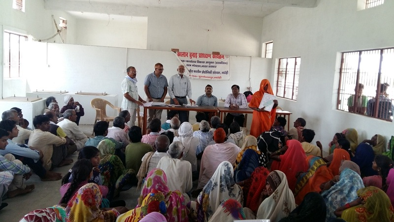 image of Training on Handknotted Carpet Weaving to 5000 Carpet Weavers at Purusottampur, Parsipur, Bhadohi from 29.12.2015 to 28.03.2016 by IICT, Bhadohi