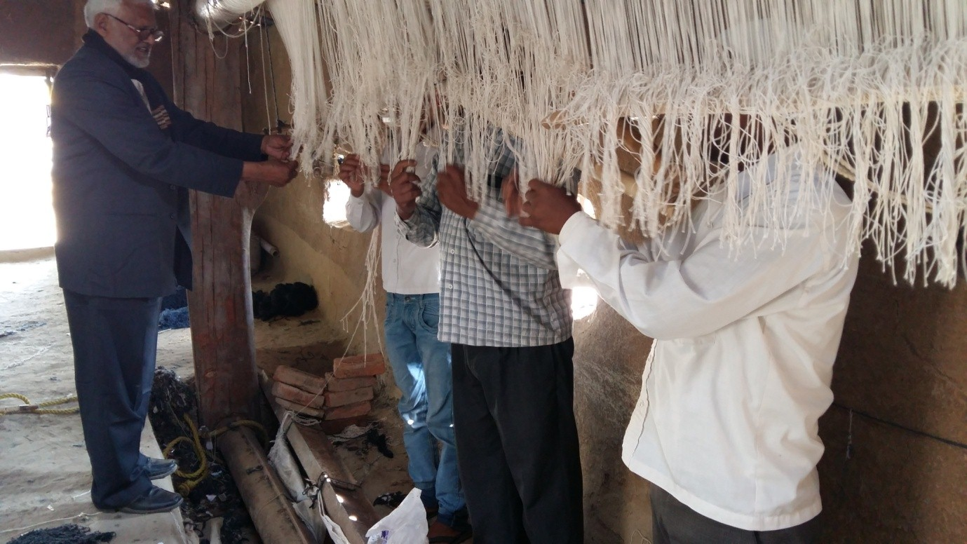 image of Training on Handknotted Carpet Weaving to 5000 carpet Weavers at Dorihar, Sonbhadra from 30.12.2015 to 29.03.2016 by IICT, Bhadohi.